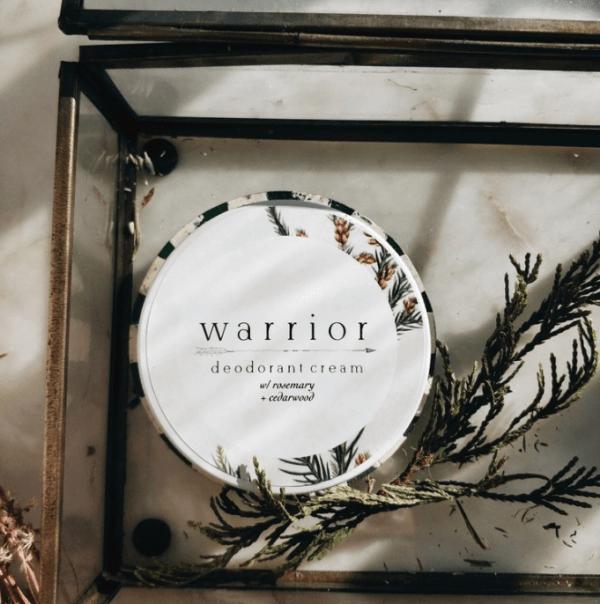 WARRIOR BOTANICALS - deodorant cream w rosemary & cedarwood